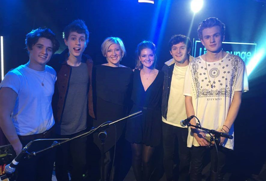 LCV with The Vamps for BBC Radio 1 Live Lounge