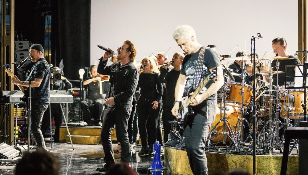 Live performance at Abbey Road Studios with U2 for BBC One