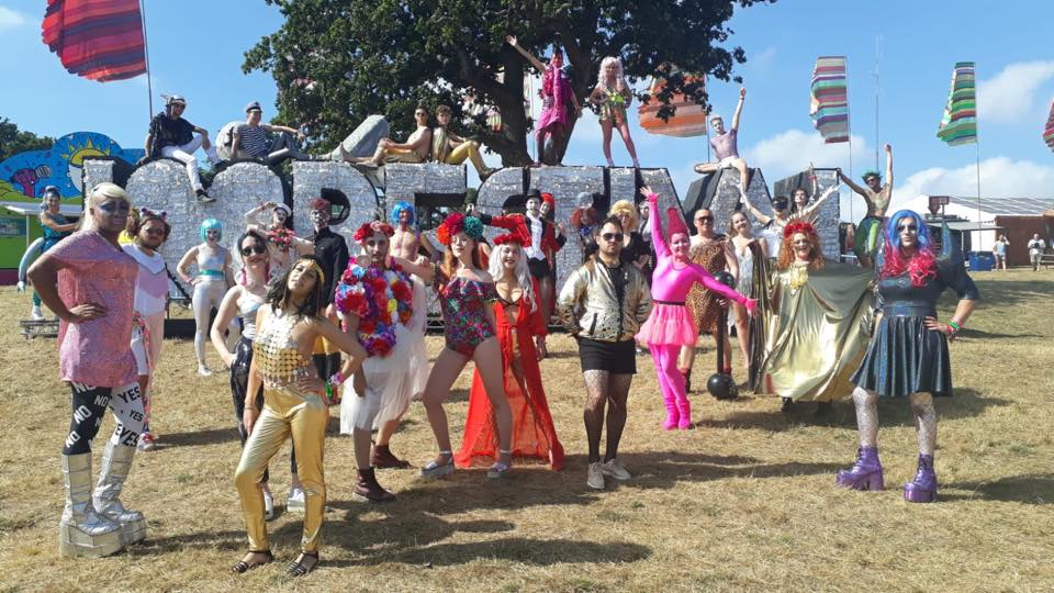 Bestival Costumed Walkaround