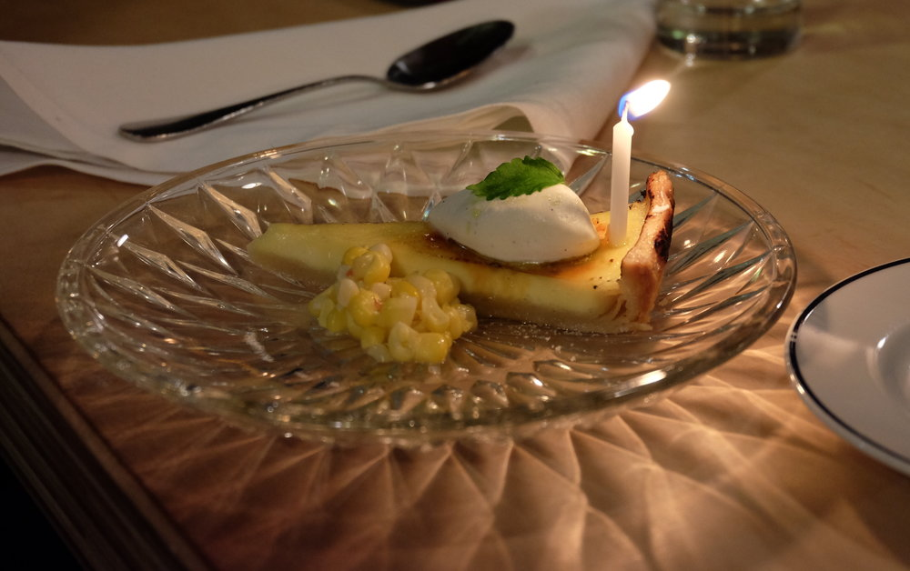 Creme Brulee Tart - Sweet Corn / Citrus / Mint / A Candle for Zack's Birthday