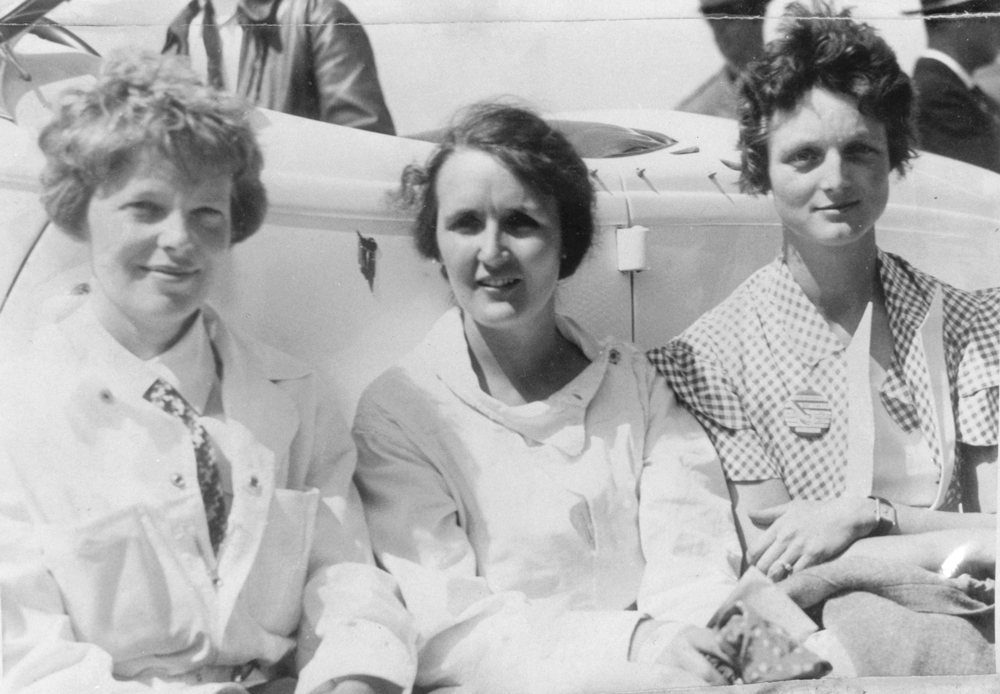 Amelia Earhart, Ruth Nichols, and Louise Thaden would become friends and dominate the sky for years.  National Air & Space Museum