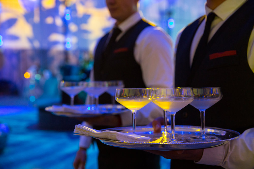 Ziegfeld Ballroom's expert mixologists craft cocktails that look as good as they taste.