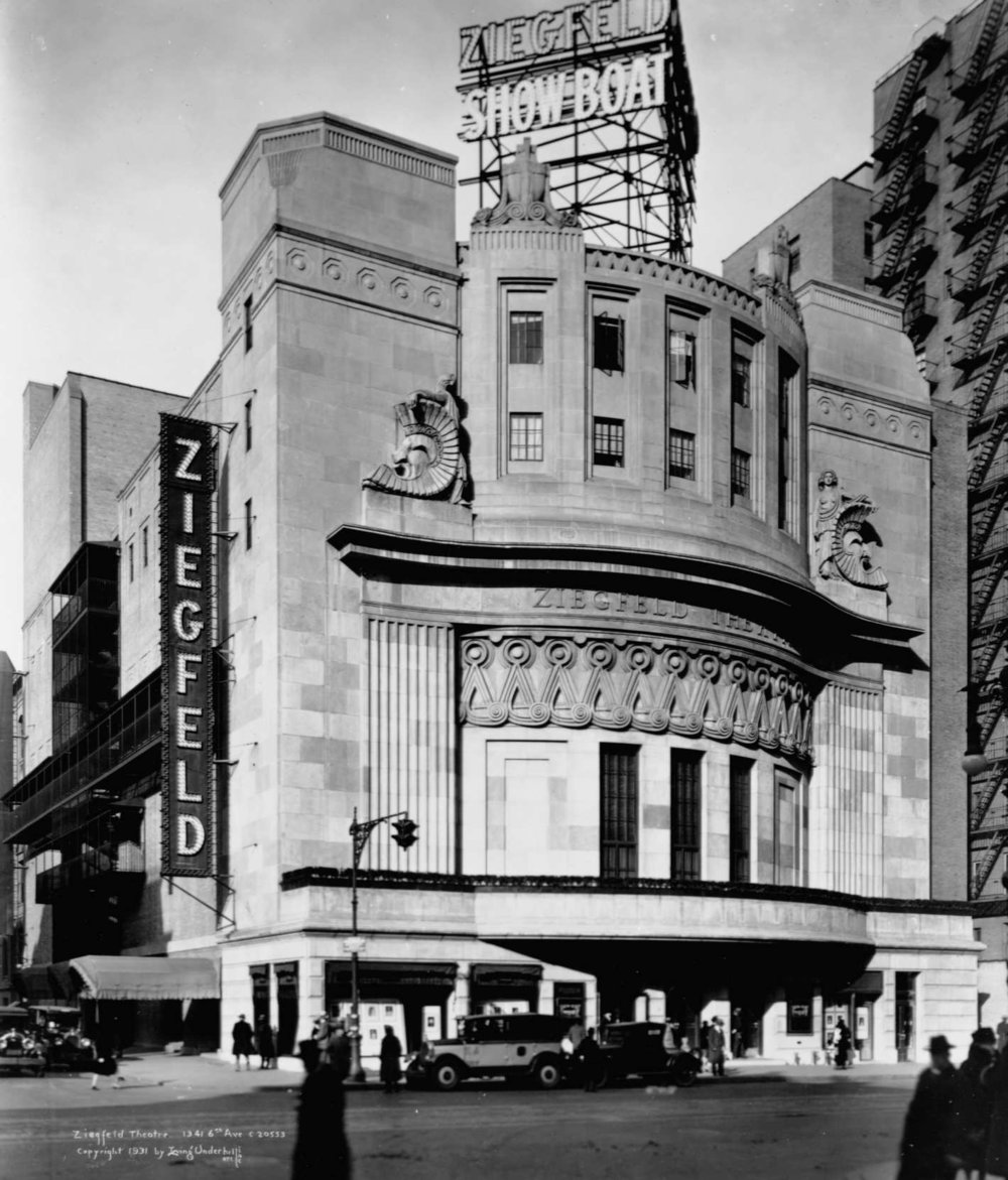 The original Ziegfeld Theatre was located steps away from the site of the current Ziegfeld Ballroom.