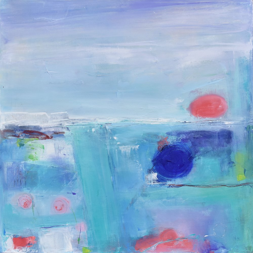 IMAGE THIS PLACE, OIL ON CANVAS, 30 X 30 INCHES,  CAD $ 2150.-