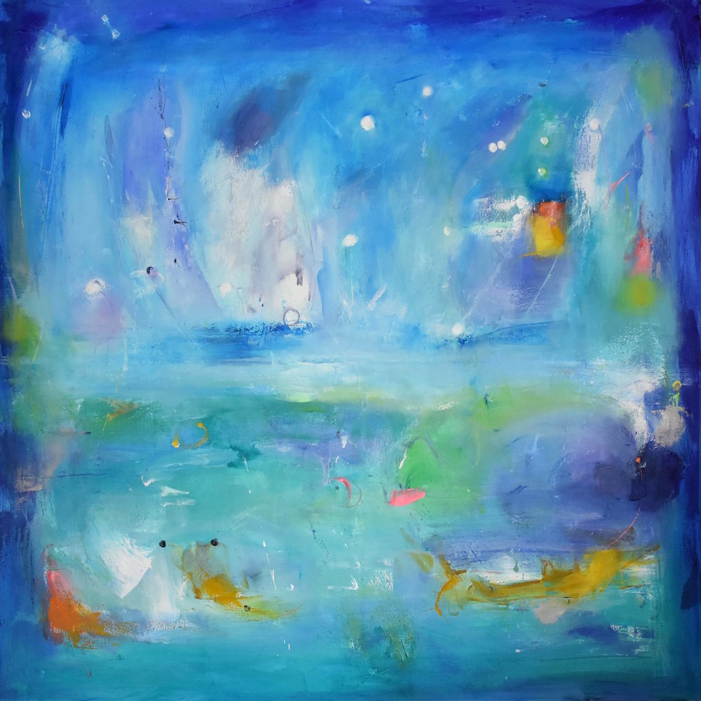 Magic snow,2018, oil on canvas,48 x 48 inches - copie 2.jpg