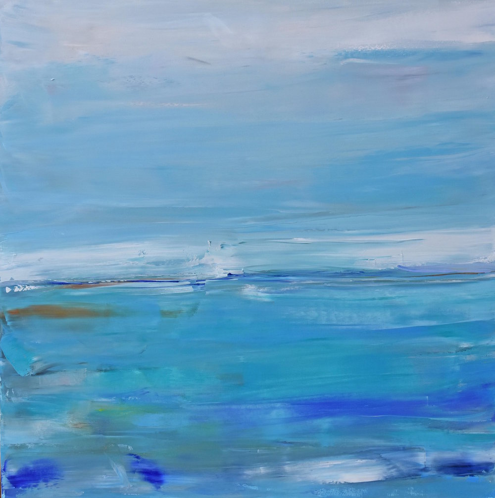 SERENE, OIL ON CANVAS, 40 X 40 INCHES, CAD $2900.--