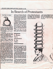 In Search of Protestants - A Bronx boy's puzzlement in the 1950'sFrom: The New York TimesDate: March 16, 1985