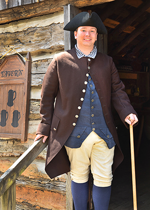 Taylor is working towards his degree in history from Appalachian State and is very involved in historical re-enactment.