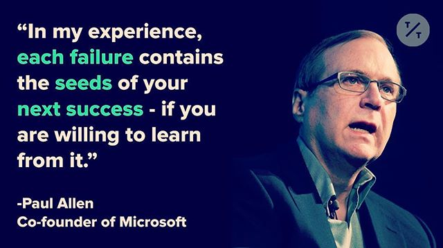 Hey #entrepreneur, here's what the late #PaulAllen said about #success. 🙏 #RIP 🙏 #followtheblueprint