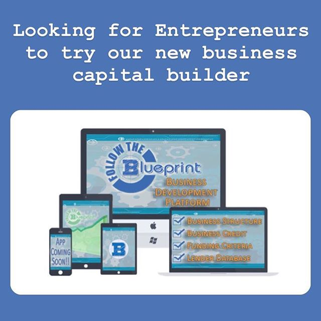 DM us if you want hundred$ of thousand$ of dollar$ in capital for your startup company or small business. #followtheblueprint