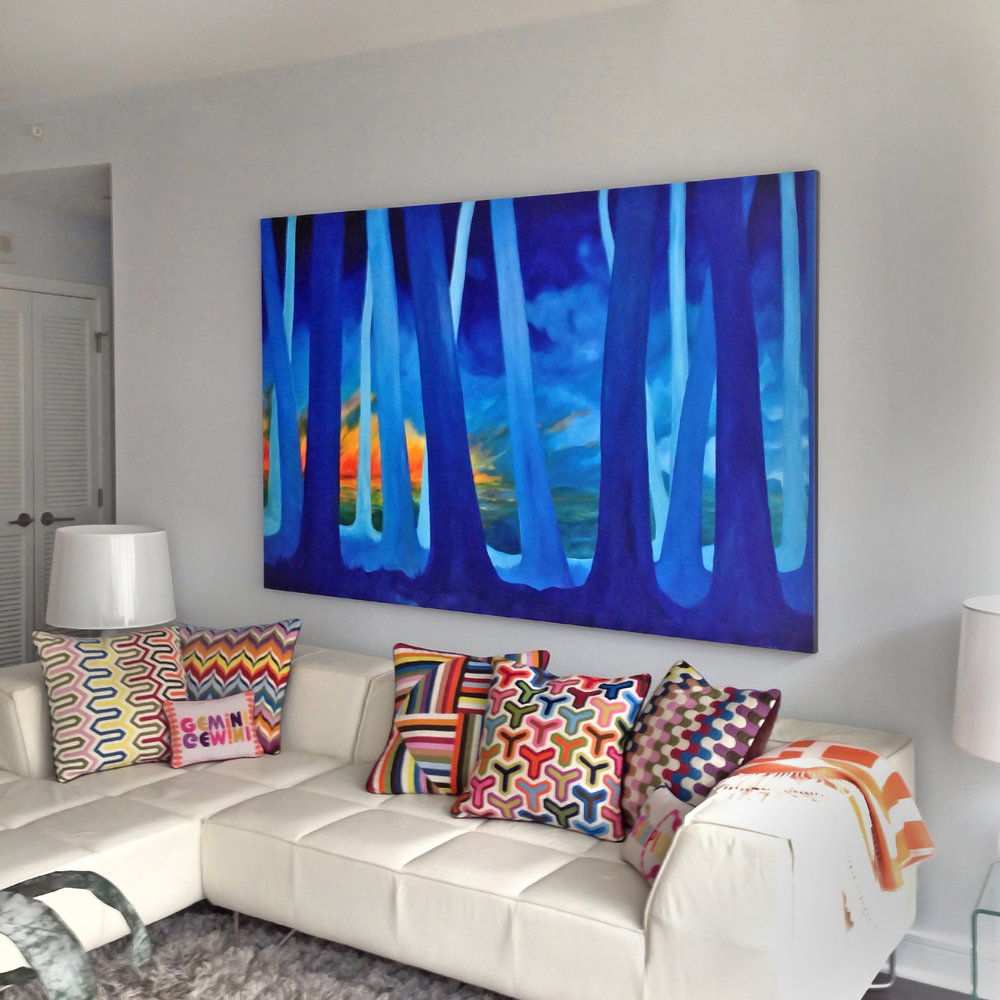 ON APPROVAL - Why wait? Feel great! Take the piece home with you. Unsure how the piece you love will look in your home?  Our clients can take artwork on approval for a 24-48 hour period with no obligation, to facilitate the decision making process.