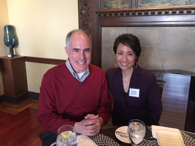 Representative Patty Kim with U.S. Senator Robert Casey