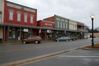 Part of downtown Plains (Plains, GA)