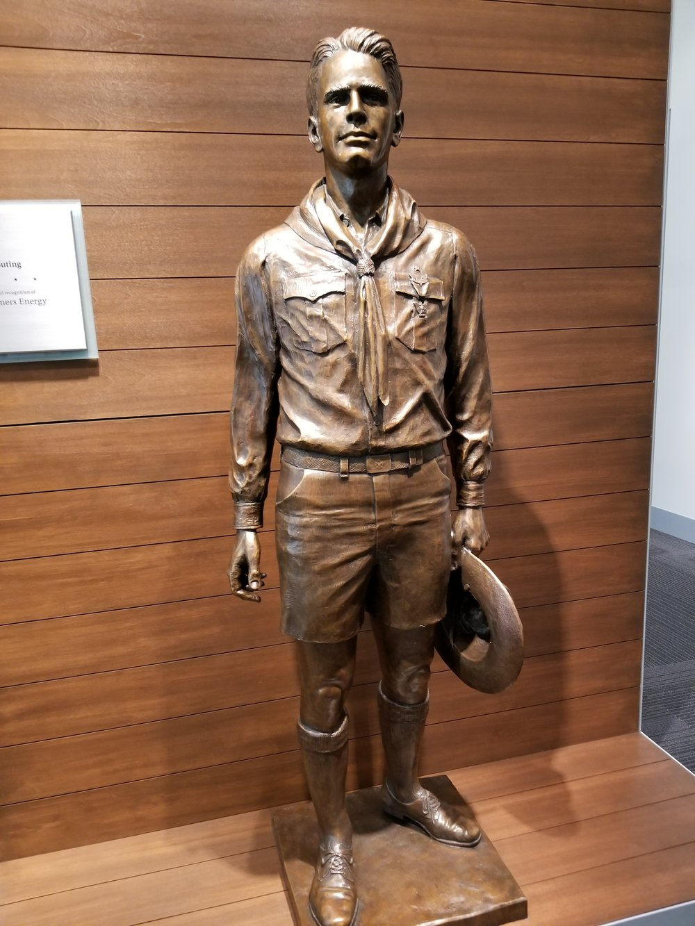 Statue of Ford as a boyscout