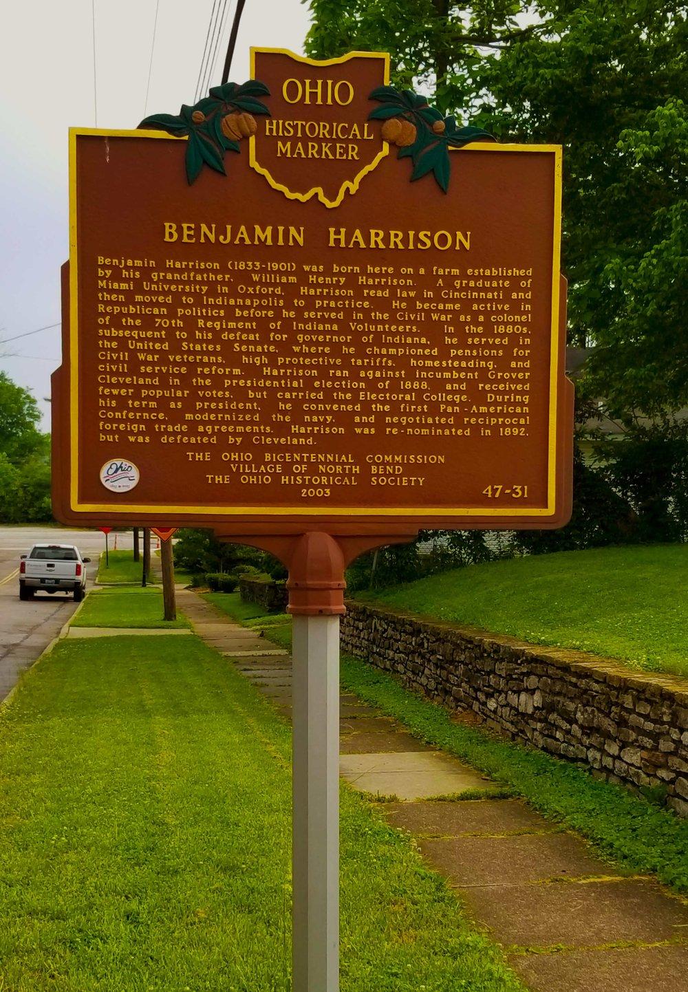 Benjamin Harrison Born Here