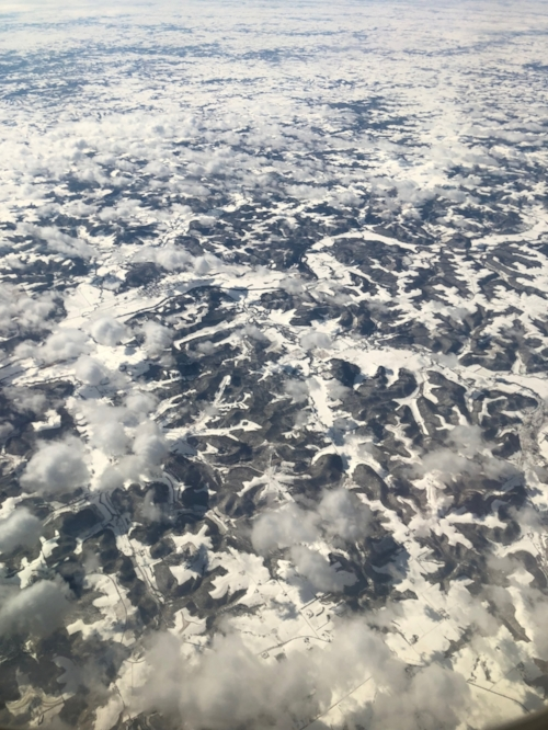 Somewhere over southern Minnesota, March 2018