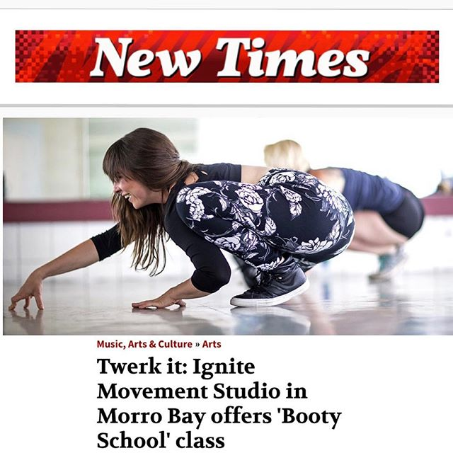 Yay! Our first write up! Thank you #ryahcooley of @newtimesslo for the beautiful article! 📷: @centralcoastweddingphotography 🍑🍑🍑 #bootyempowerment #slofitness #slodance #slocounty #805 #bootybootybooty #bootylove #selflove #selfcare #iworkout #shakeitout