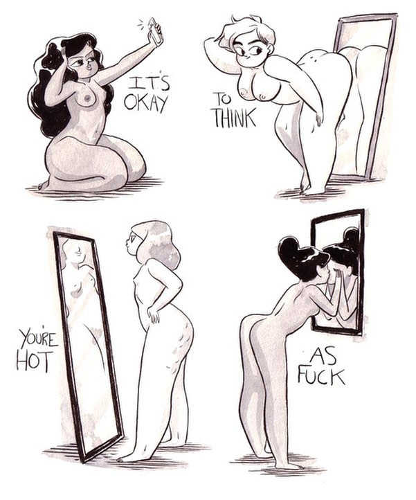 """Mirror mirror on the wall..."" #loveyourself #mirrormirror  #bootyempowerment #bodypositivity #celebrateyourbody"