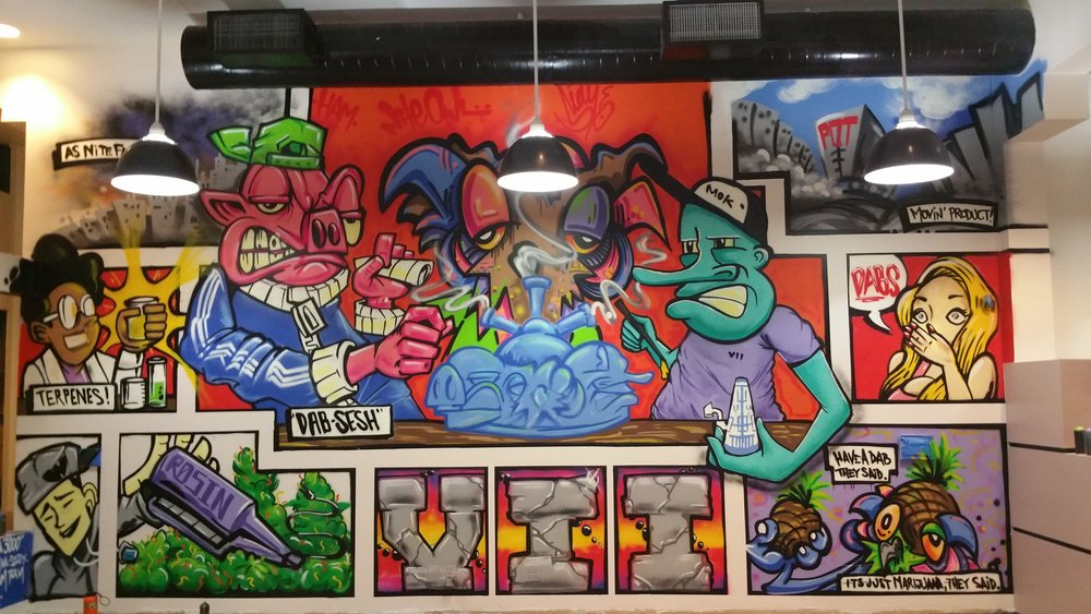 Mural Collaboration with Stay Bacon and Nite Owl for VII Boutique