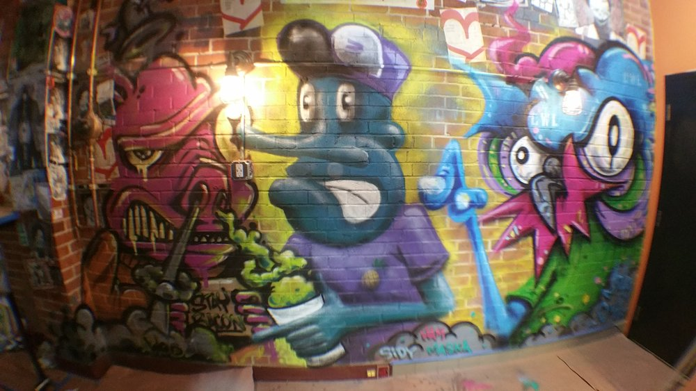 Mural Collaboration with Stay Bacon and Nite Owl for Monkey King Resturant