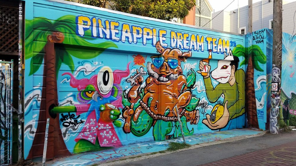 Mural Collaboration With Nite Owl and Stay Bacon, San Francisco