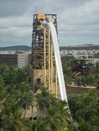 Insano, Fortaleza, Brazil  If the Summit's 120 ft. drop wasn't enough of an adrenaline rush, hop over to Brazil and try the who have build the world's tallest waterslide with a drop of a whopping 135 ft.!