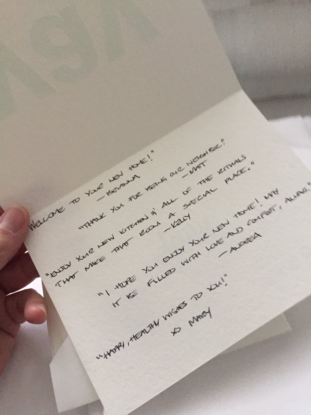 Heartfelt notes from donors go into each bundle