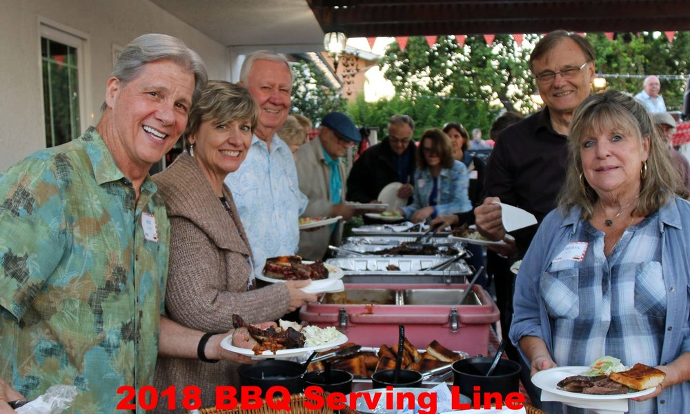 2018 BBQ Serving Line