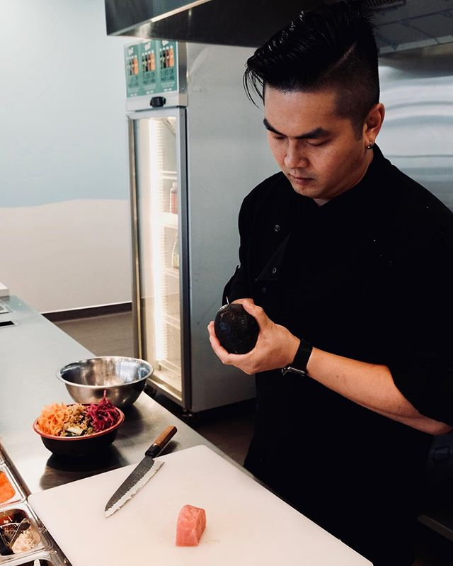 """""""I've been a manager at all the jobs I've ever worked. But what's special about managing at Hoku is that I'm at the front end and deal with customers a lot more than my other jobs. It's a great experience."""" - Chef Kelvin 👨🏻🍳 . . 🚨🚨VISIT US TODAY🚨🚨 107 17 AVE SE, Calgary, AB T2G 1H3 . . . #chefkelvin #managerskills #hokustop #hoku #hokuyyc #hokupokebar #calgary #yyc #poke #poké #pokébowl #healthyeats #eeeeeats #cleaneating #treatyoself #dailyfoodfeed #instafood #foodie #meetmeon17th #curiocitycalgary #localislovely #fitness #17thavesw #kelvinfacts #facts"""