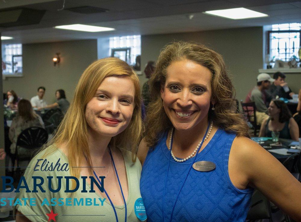 Katie Schulz, left, and Elisha Barudin.