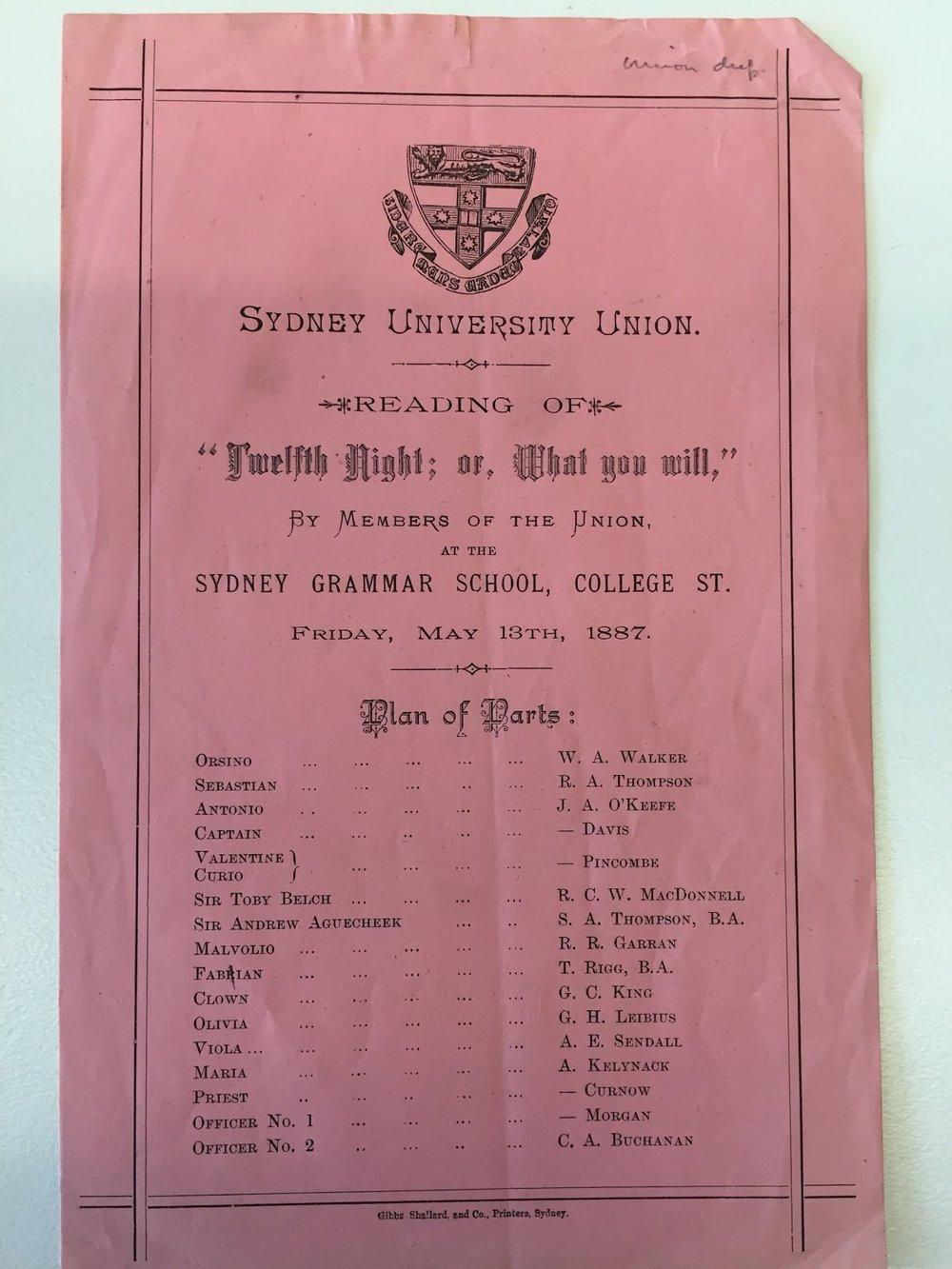 Via The University of Sydney Archives Centre S63/10
