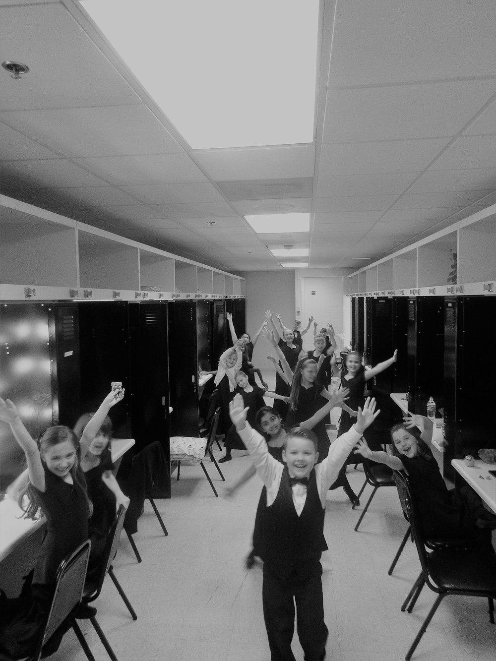 A Choir in their Dressing Room Backstage!