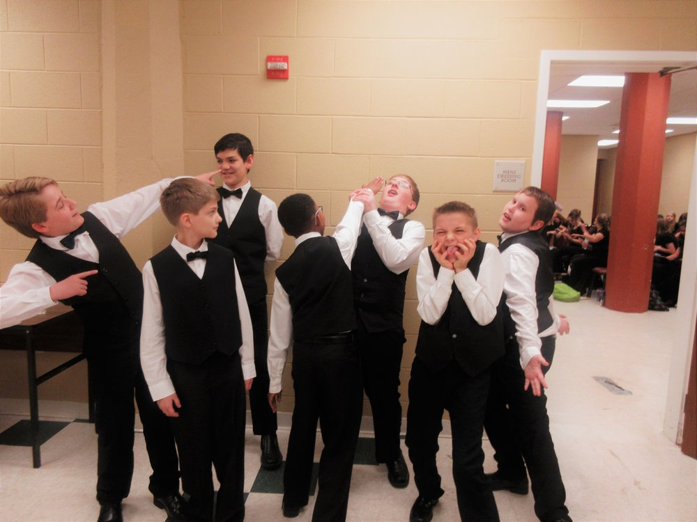 B+ Choir SILLY Boys :)