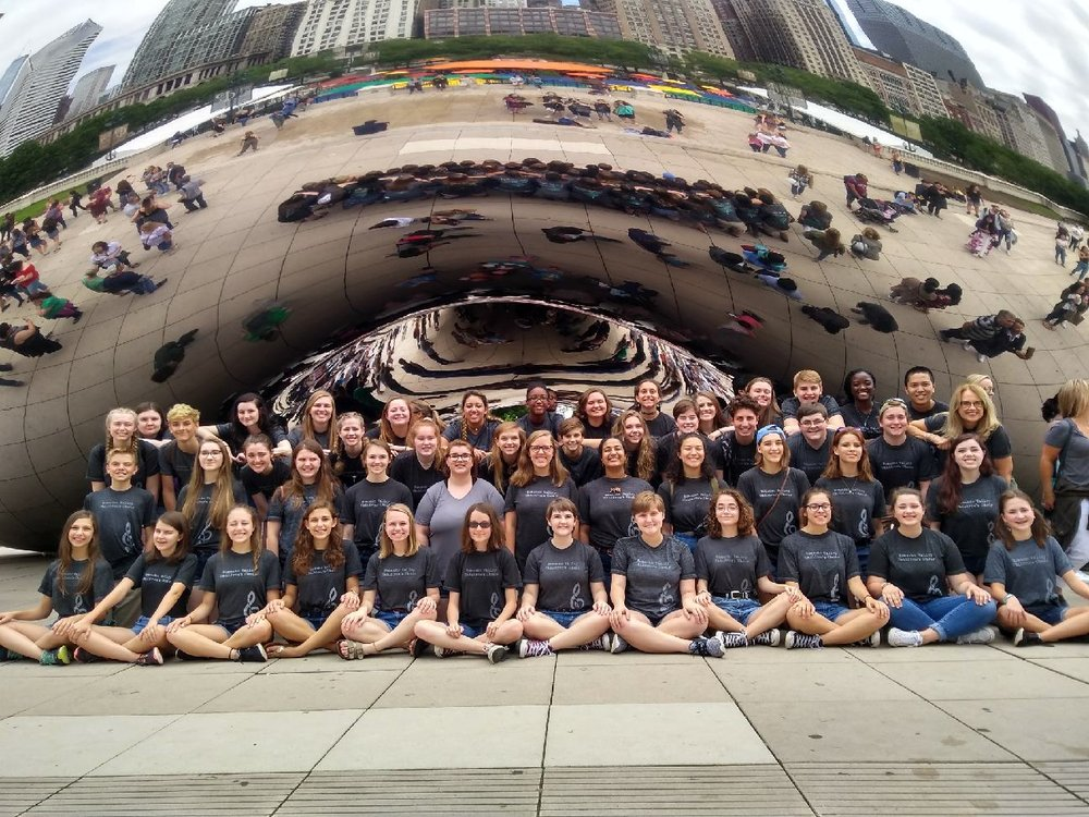 In front of the Chicago Bean