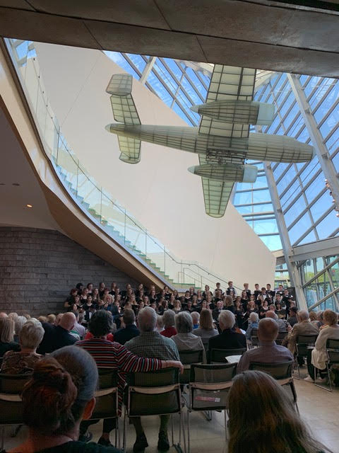 Roanoke Valley Children's Choir singing at the Roanoke Symphony Orchestra's Destination Concert at the Taubman Museum on May 6th, 2019