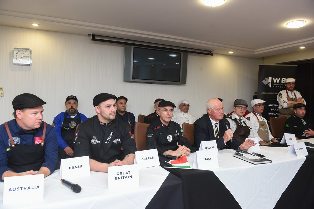 First official World Butchers' Challenge press conference. - In a World Butchers' Challenge first, a number of media - both national and those who had travelled internationally with their teams - took place on the eve of the competition.