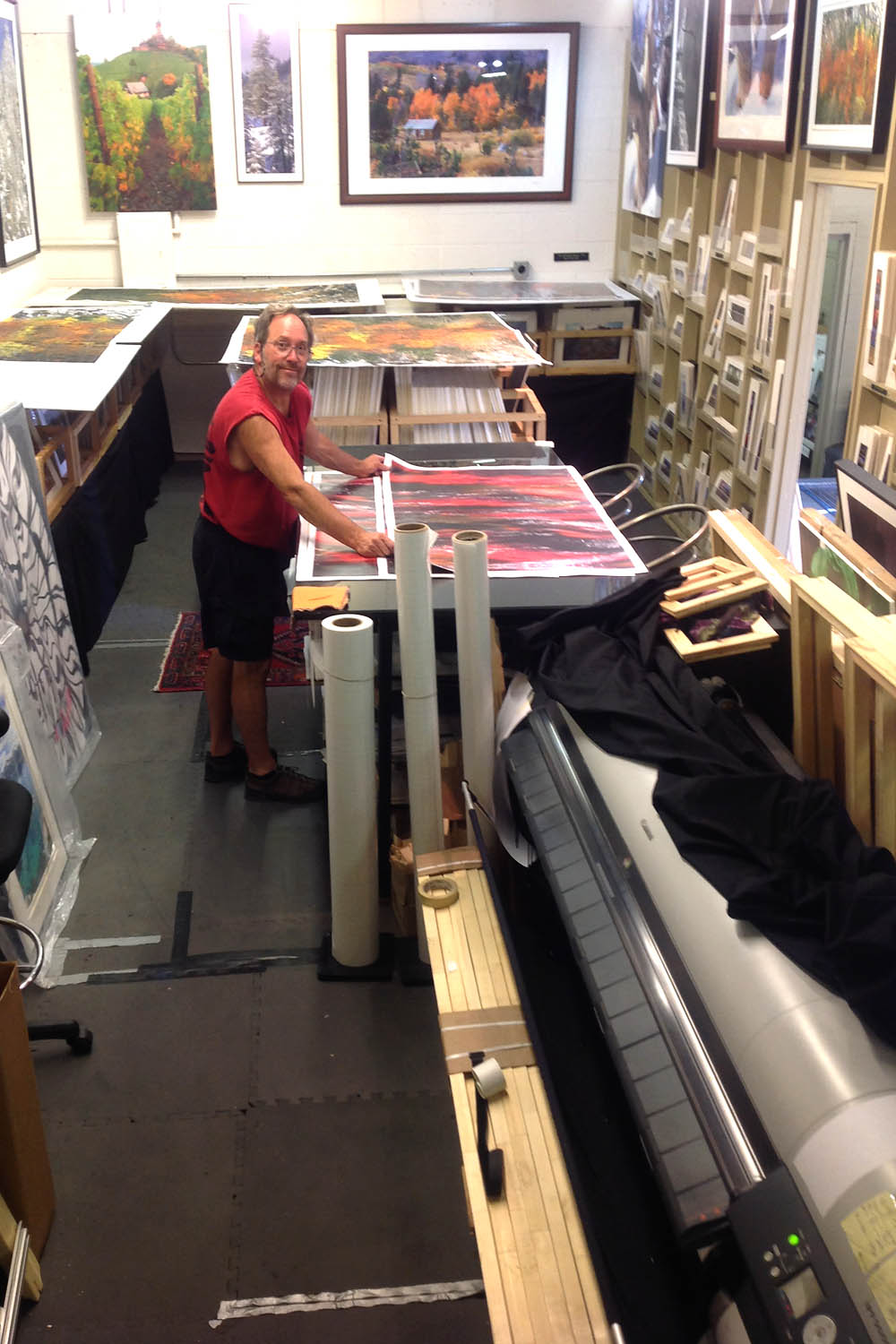 Printing Studio at Dirk Yuricich Photography