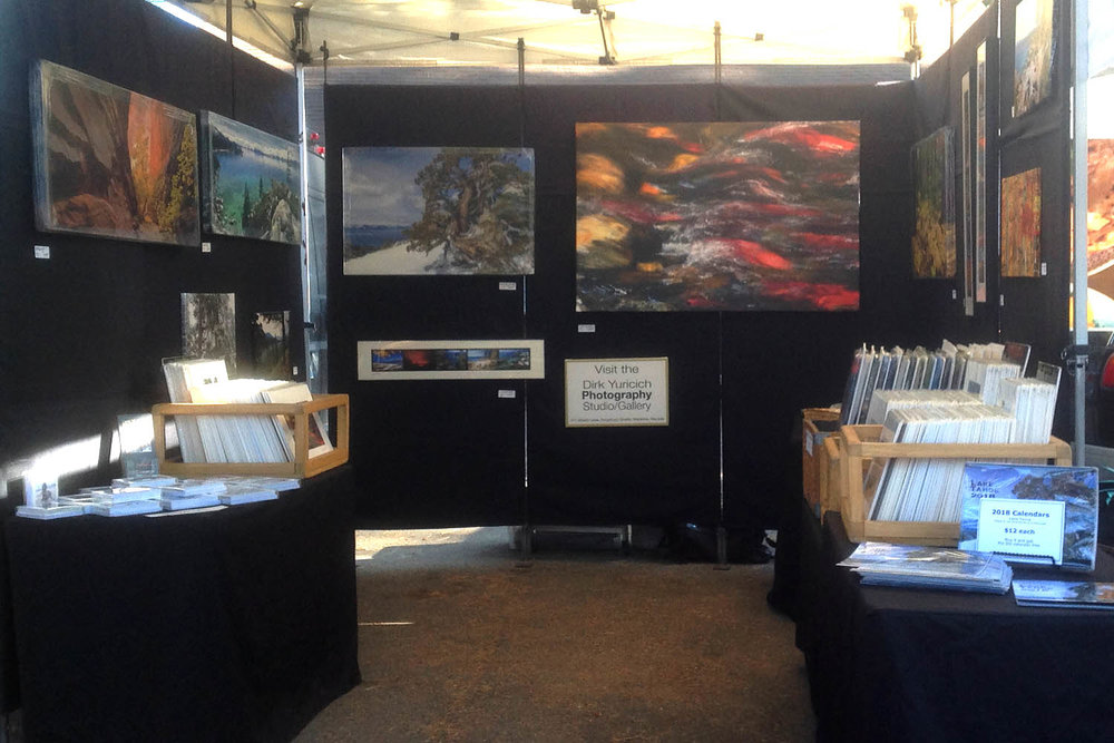 Photography by Dirk Yuricich at his booth at the South Lake Tahoe Farmers Market