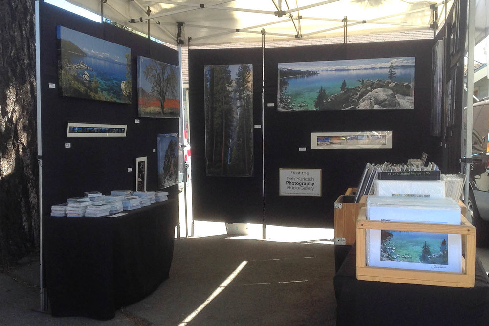 Dirk Yuricich Photography Booth at the South Lake Tahoe Farmers Market