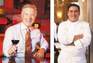 Restaurateurs Piero Selvaggio, Left, and Emeril Lagasse will introduce the latest additions to their fine-dining portfolios later this year in hotel properties.