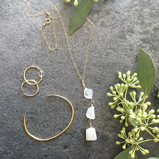 Some new beauties added to the shop today! Stay tuned for more Ginger and Pearl designs coming soon and pictures from our photo shoot last week! #spring #feelfreefeed #makers #makersgonnamake . . . . . .  #flatlay #minimalistjewelry #moonstonejewelry #moonstone #hammeredjewelry #johnsoncitytn #shoplocal #cultivatestyle #cultivatecreativity #bohovibes #ardentfinds #calledtocreate #seekthesimplicity #daintyjewelry #risingtidesociety #nothingisordinary