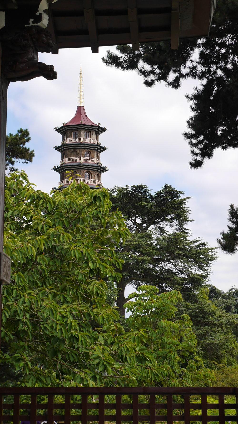 Pagoda seen through Japanese gate.JPG