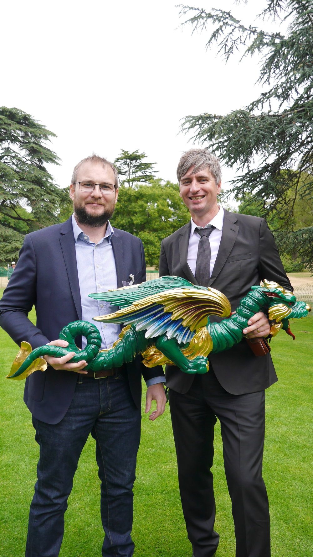(from the left) 3D Systems'  Nick Lewis  and  Craig Hatto  of Historic Royal Palaces © HD Grzywnowicz, 2018