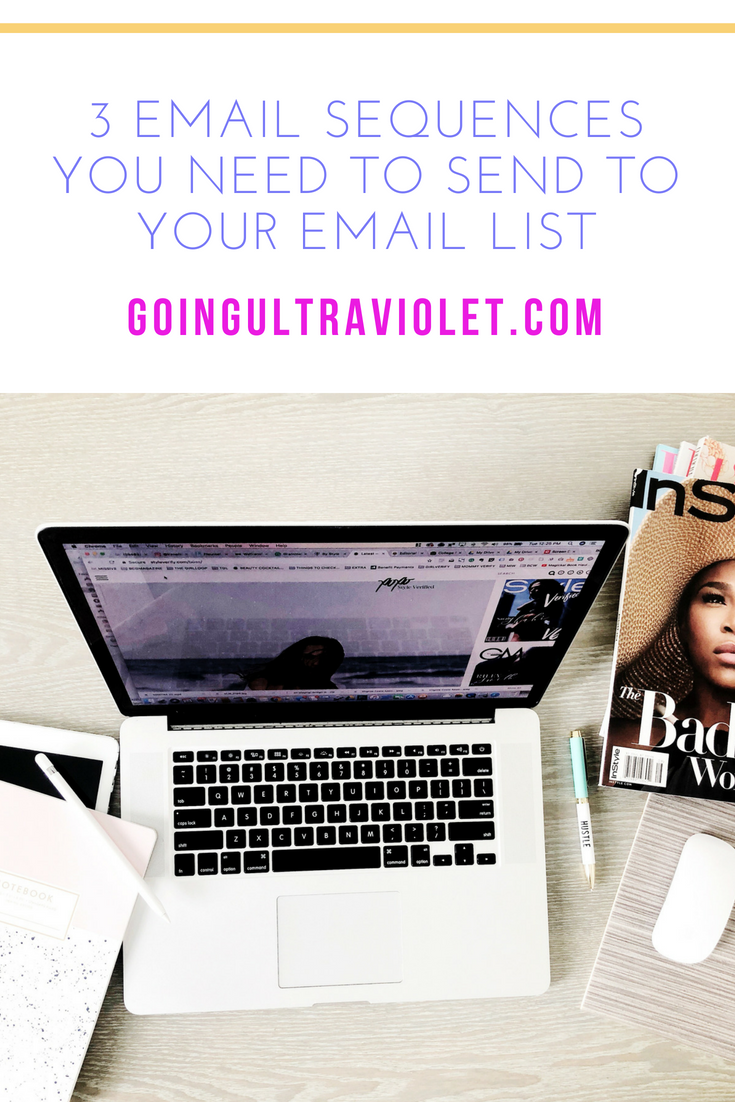 GoingUltraviolet.com | 3 Types of Email Sequences You Need to Send to Your Email List