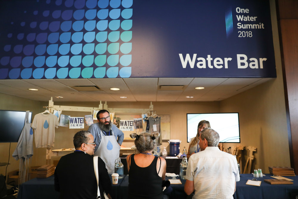 Water Bar at One Water Summit 2018