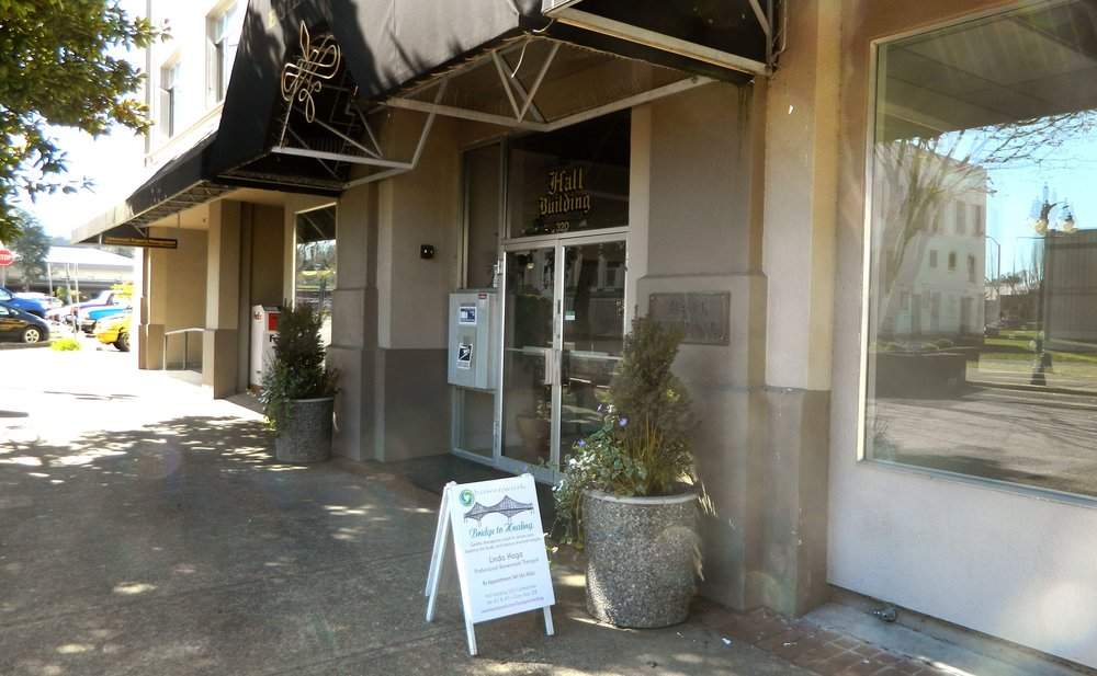 Our Practice - Located in downtown Coos Bay in the historic Hall Buiding. 320 Central Ave. Suite 413 & 415. Yes, you read that right! I have two adjoining rooms perfect for working on couples and accommodating busy schedules.