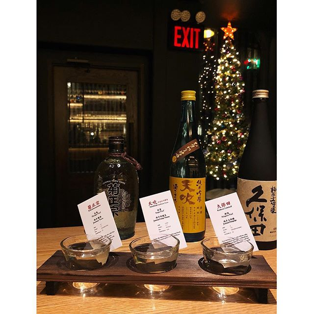 Sake flights are now available on our menu 🍶! These showed in the picture  are @kikumasamune_official #amabuki and #kubota , the sake is bartender choice so you never know what you're gonna get ! 🙃 cheers! Happy holidays #torikony #nigori #junmai #junmaiginjo #junmaidaiginjo #sakeflight #nyc #sake #japaneserestaurant #bar #nycbars #japanesebar #bartender #cocktailmenu #japanesecocktail