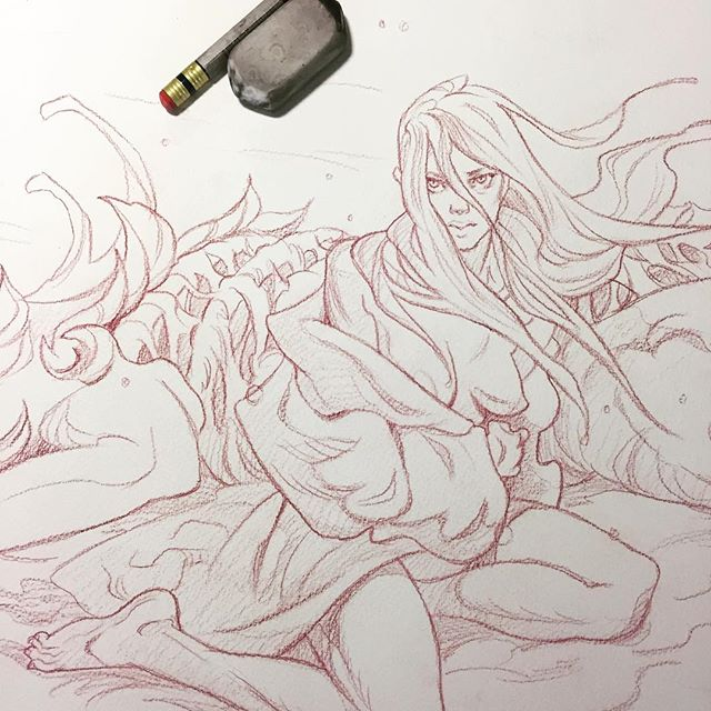 Here's a preview of the thing I'll be working on for @snagart tonight - I may or may not screw it up! Event is happening at the American @ 8pm @artbreakers_market_vancouver  #snag #artbreakersmarket #ghost #watercolor #illustration #yukionna #artistsoninstagram #art #sketch