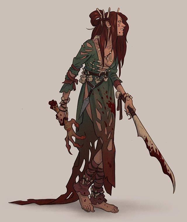 Bloody bone witch