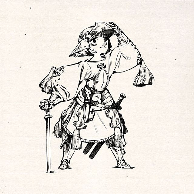 A little behind on posting these! This #inktober I'm doing mouserider warriors of the world in armor based on armor if the world .3.  Oct 1 : based on 15th century, Danish man-at-arms in transitional/(maybe half?) plate. Please feel free to request a country/group/region you'd like me to do! . . . . . . #inktober2018 #danish #denmark #armor #pen